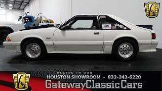 1989 Ford Mustang GT Gateway Classic Cars of Houston  stock 372 HOU