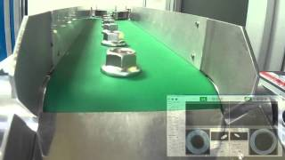 Automatic vision system for inspection weld nut