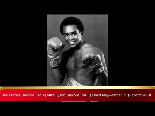 FLOYD MAYWEATHER JR , MUHAMMAD ALI , MIKE TYSON HARDEST FIGHT EVER