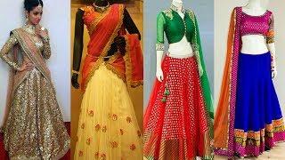 Latest Designer Half Sarees Langa Voni Lehenga Choli with Blouse Designs Collections 201 ...