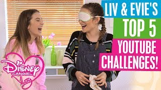 DISNEY CHANNEL VLOG | LIV & EVIE'S TOP 5 YOUTUBE CHALLENGES!