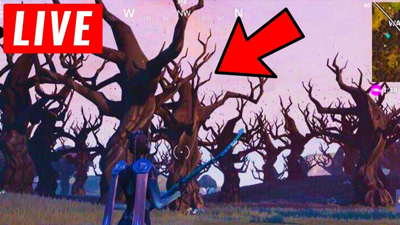 *NEW* WAILING WOODS IS BURNING DOWN RIGHT NOW! (Fortnite Event Live)  Wailing Woods Burning Down Live