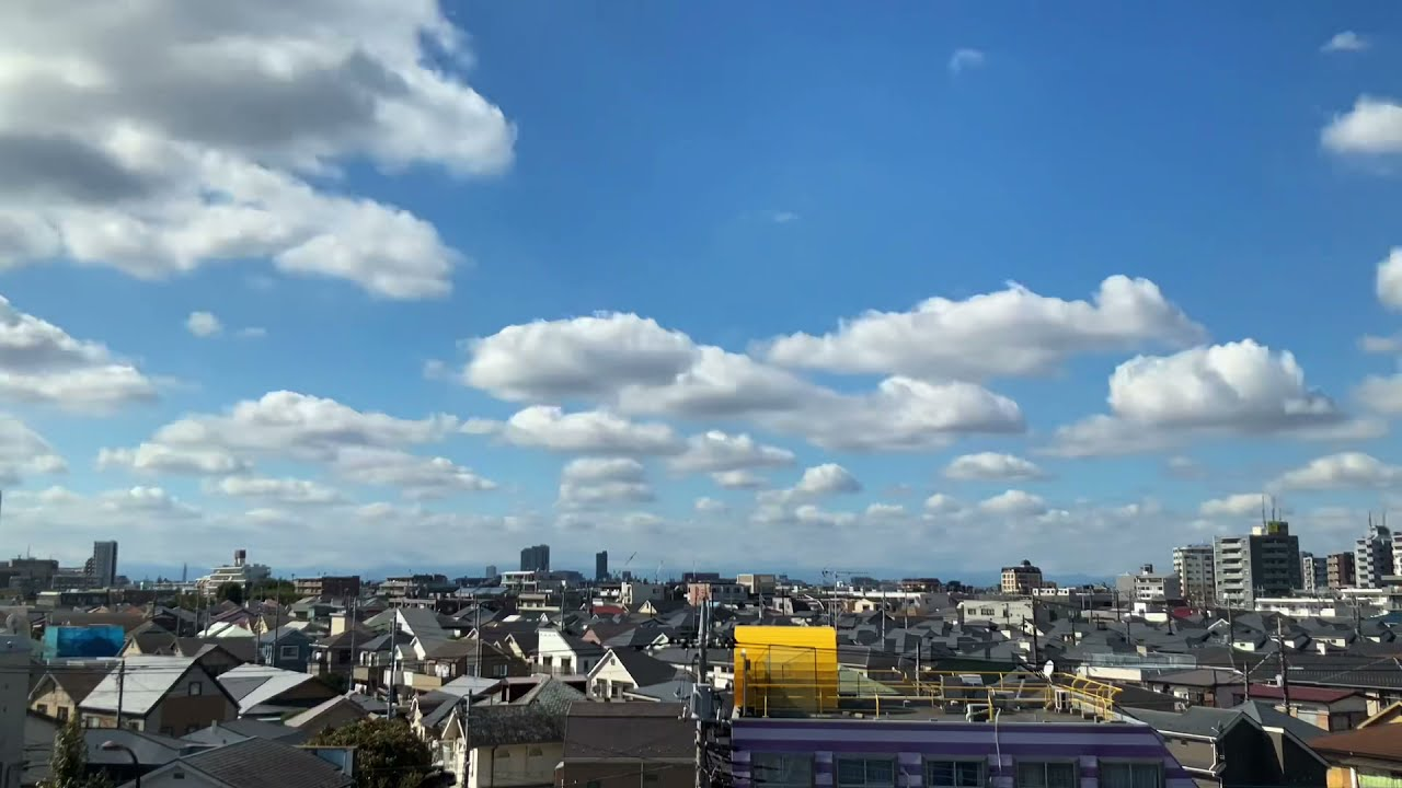 お仕事お疲れさまです 【タイムラプス】空 雲 ヒーリング  TOKYO 20211014
