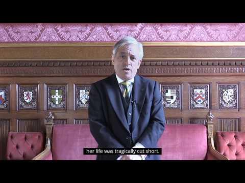 Mr Speaker, Rt Hon John Bercow MP, on the anniversary of the death of Jo Cox