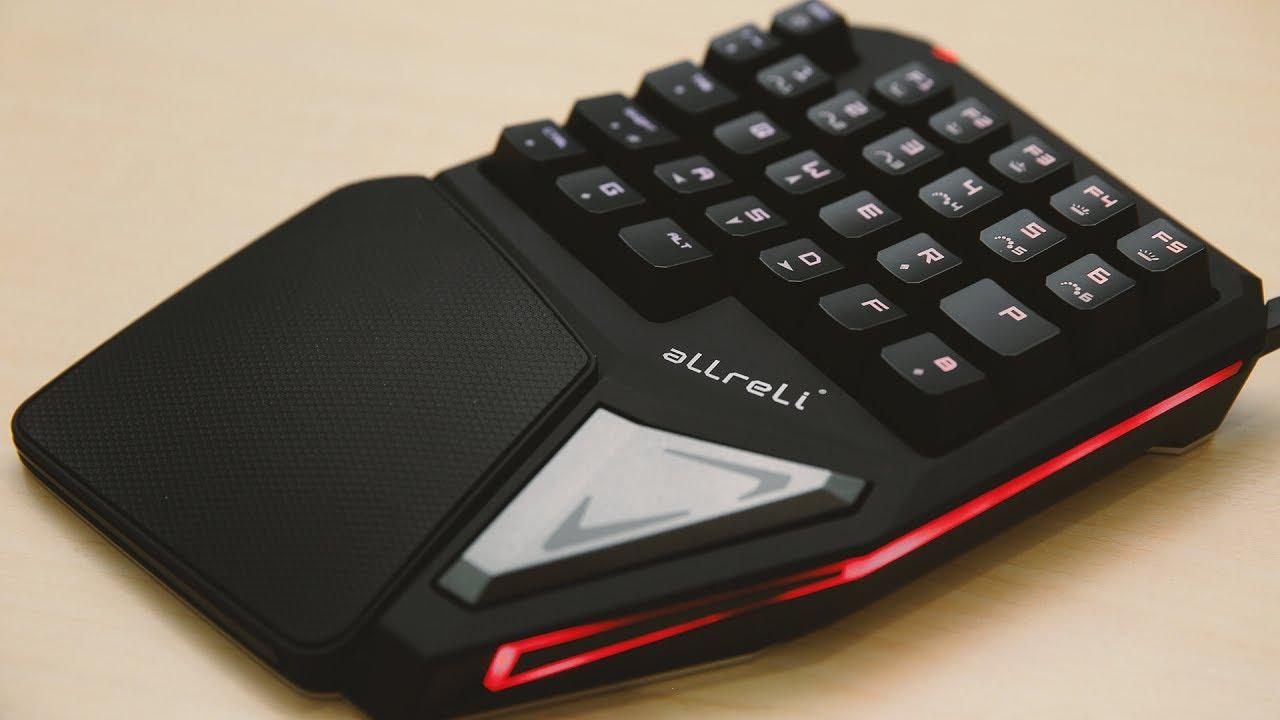 un clavier gamer une main original unboxing test youtube. Black Bedroom Furniture Sets. Home Design Ideas