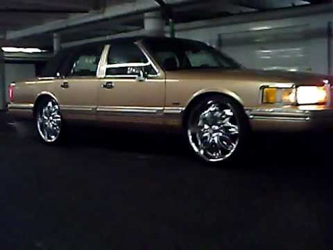 K Ozz S Lincoln Town Car On 24 S Youtube