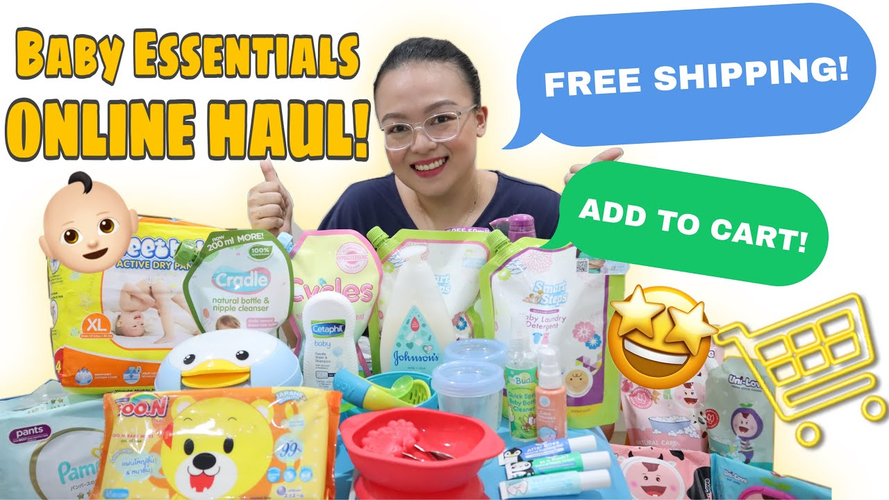 BABY ESSENTIALS HAUL | MY FAVORITE BABY PRODUCTS ONLINE SALE! | Nins Po