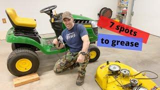 grease fittings on john deere 100 series