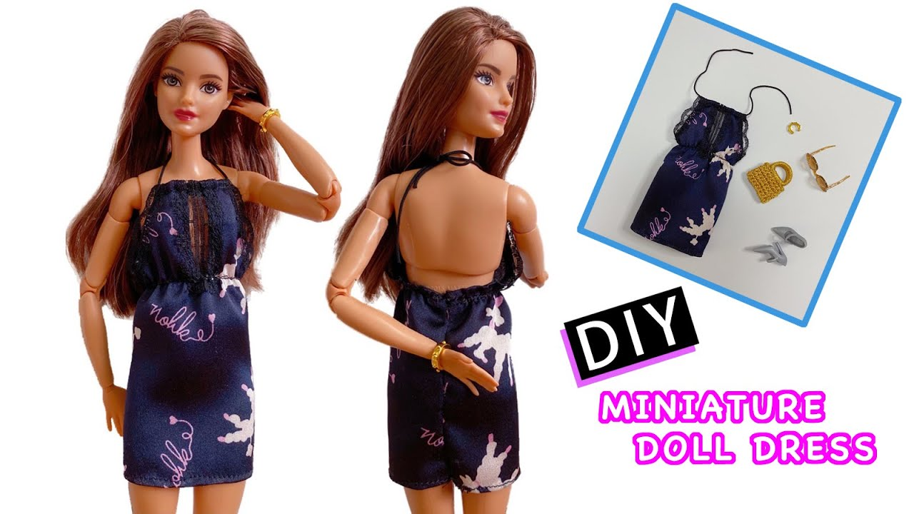 How To Make Doll Dress👗 DIY Barbie Clothes Crafts - 芭比娃娃連衣裙