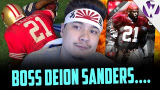 BOSS DEION SANDERS IS ALWAYS LAYING ON THE GROUND - MADDEN 16 ULTIMATE LEGEND DEION SANDERS GAMEPLAY