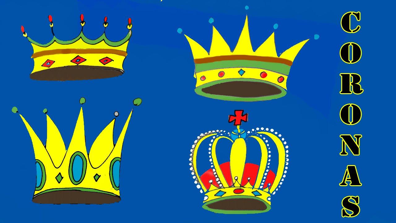 Cómo dibujar una corona: 4 modelos diferentes - YouTube