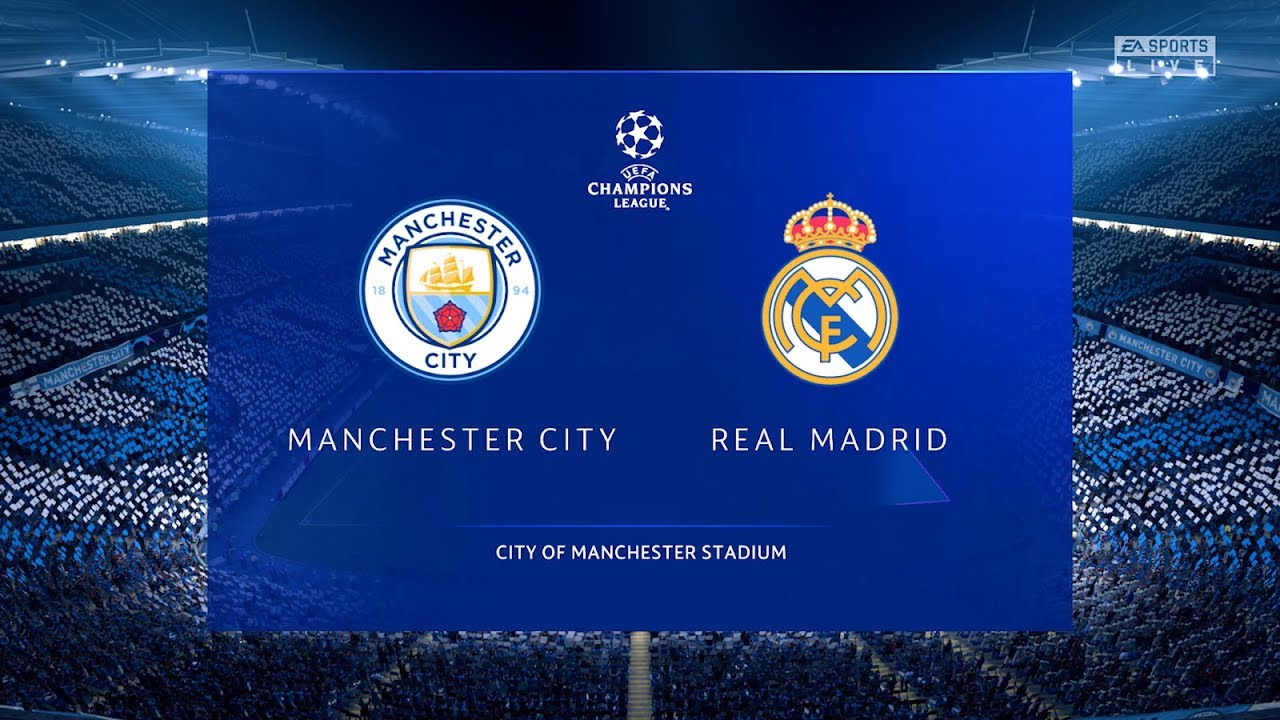 Man City Vs Real Madrid 2nd Leg Champions League 2020 Gameplay Youtube