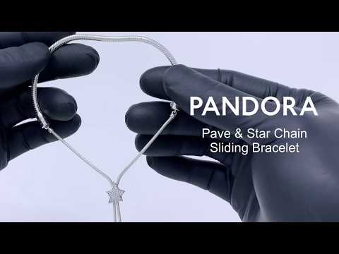 Pandora Moments Pavé Star And Snake Chain Sliding Bracelet - Winter 2019 - 598528C01