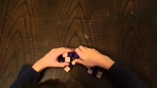 7 year old solves the Queen Snake Cube puzzle
