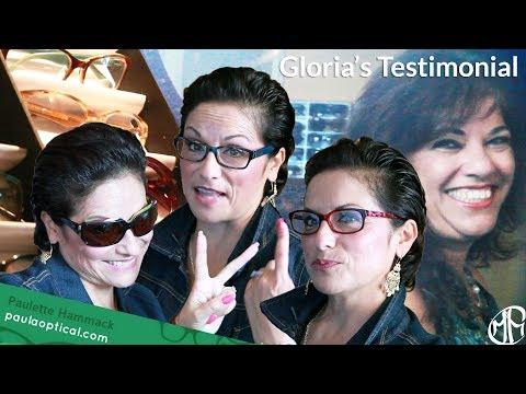 High Fashion Eyewear by Paulette Hammack | Gloria's Testimonial