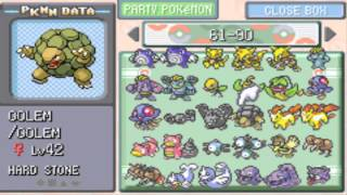 Completing my Pokemon Leaf Green Pokedex & Catching them all! thumbnail