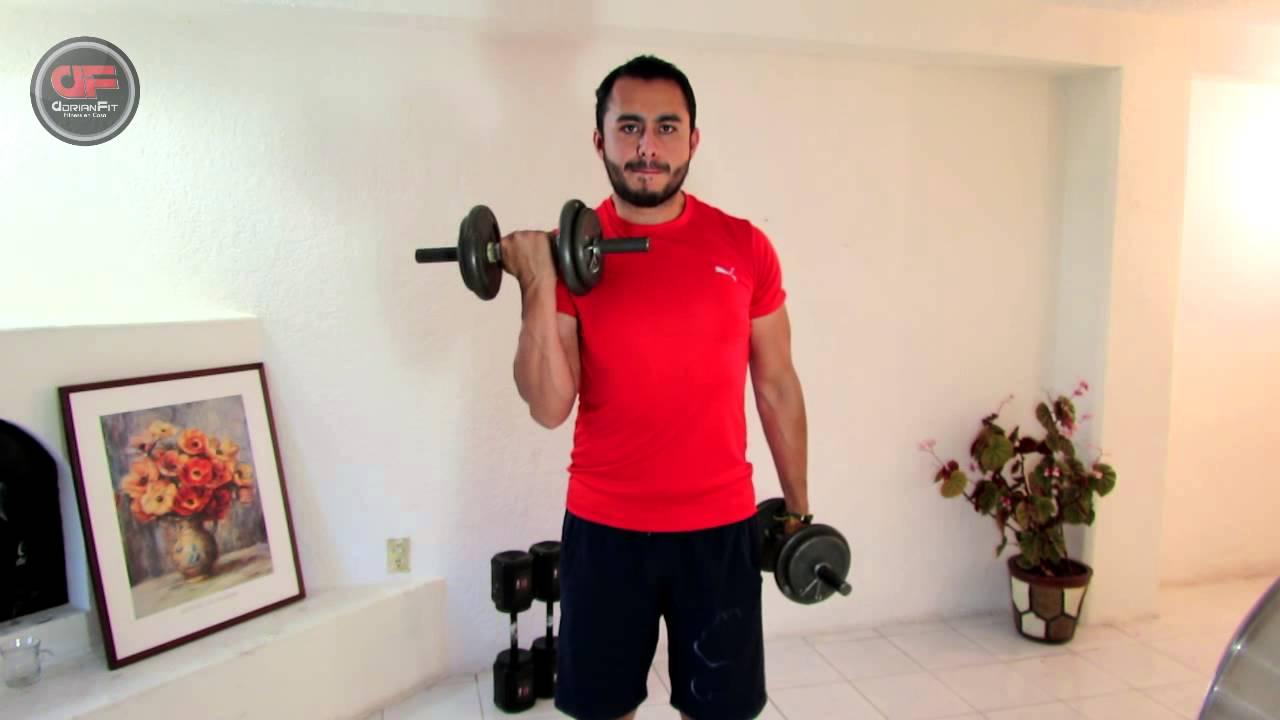 Como Hacer Curl de Biceps - Técnica y Ejecución!!! - YouTube