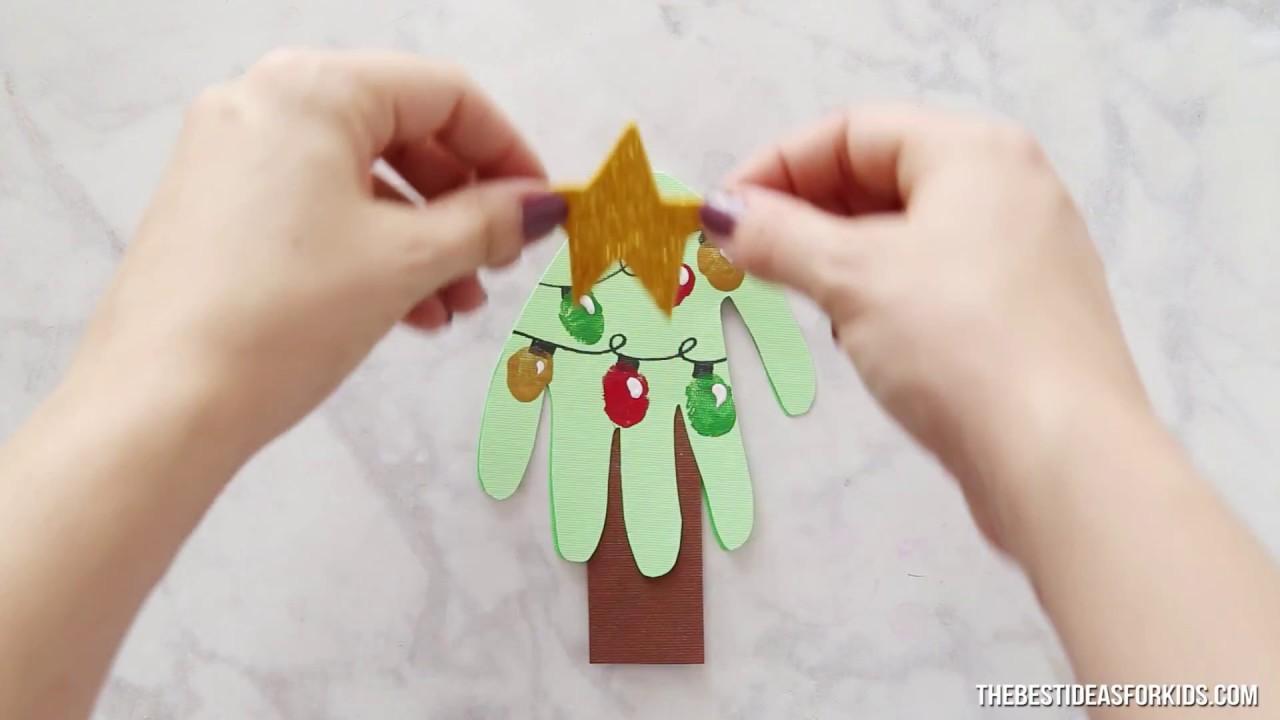 handprint christmas card  youtube