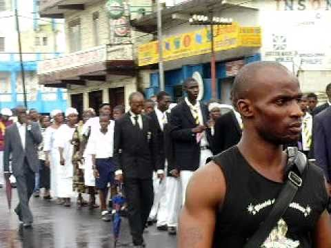 Funeral parade of the late principal of Collegiate Secondary School  Freetown 2