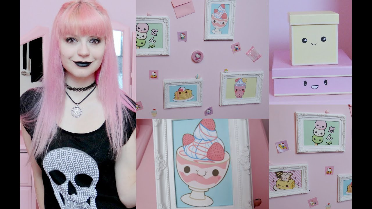 Diy kawaii pastel goth room decor youtube for Pastel diy room decor