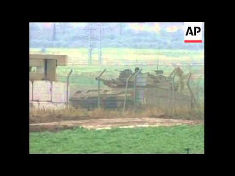 Israel army on border with Gaza after day of violence
