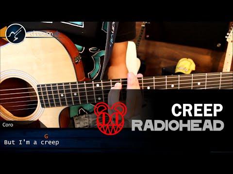 Como tocar CREEP en Guitarra Acustica   Tutorial Acordes Christianvib