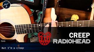 Como tocar CREEP en Guitarra Acustica | Tutorial Acordes Christianvib