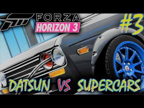 Forza Horizon 3 Greek Gameplay #3: Datsun VS Supercar
