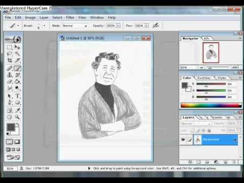 Speed Drawing Nora Batty  RIP Kathy Staff  Better Version