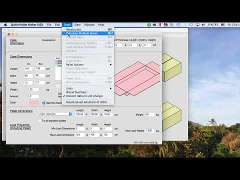 Quick Pallet Maker 4 - Calculate Multiple Boxes