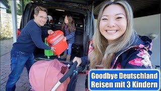Goodbye Deutschland 🌍 Fernreise mit 3 Kindern | Geschwisterliebe | Ballett Dutt | Mamiseelen