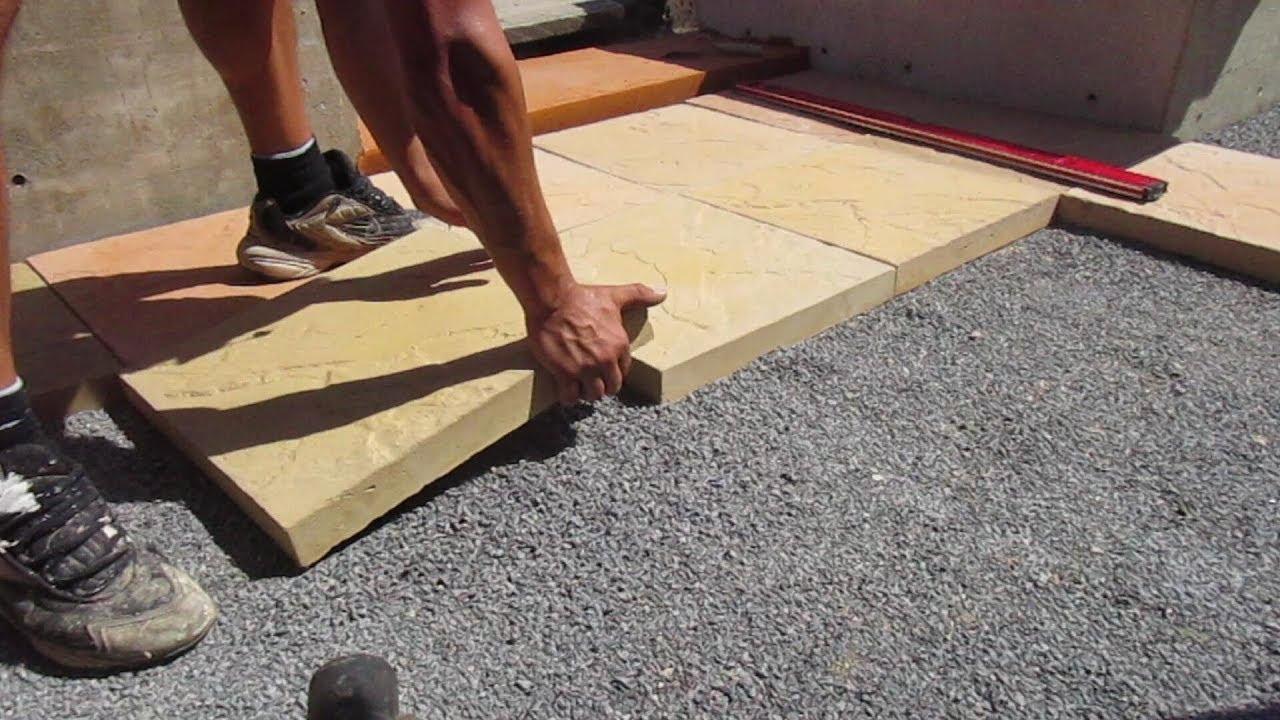 Terrassenplatten richtig verlegen