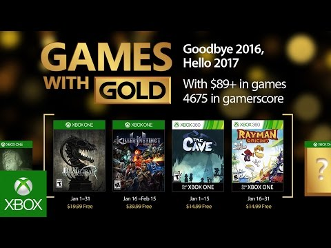 Xbox Games With Gold starts 2017 with Rayman Origins, Killer Instinct
