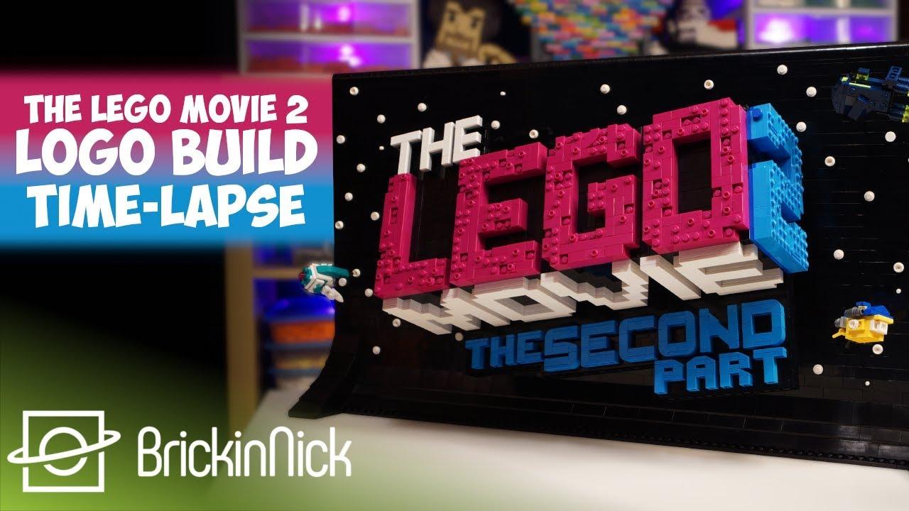 The Lego Movie 2 Logo Moc Time Lapse Youtube