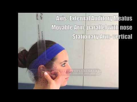 Goniometric Measurement Cervical Flexion range of motion - YouTube