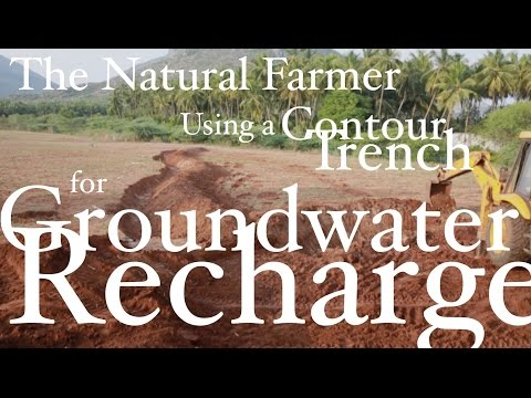 John Kaisner The Natural Farmer - Tropics - #9 Fill your Well using a Trench - Groundwater Recharge