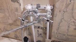 Ремонт в ванной. Замена труб на полипропиленовые (третья серия)