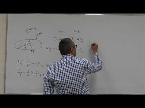 Rotation of a Rigid Body Example 2: Conservation of Angular Momentum