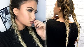 vuclip How to Double Dutch Braid with Bellami extensions