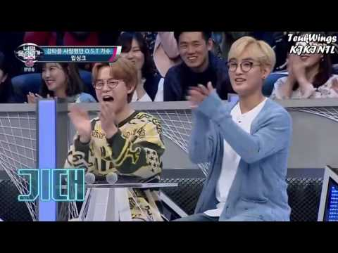 Leeteuk and Shindong lipsyncing H. O. T