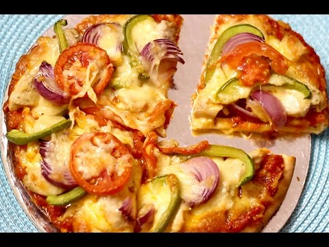 Homemade  Instant Chicken Pizza Recipe