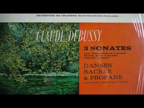 Debussy, Orchestre De Chambre Jean François Paillard – 3 Sonates (196?) Erato – STU 70091