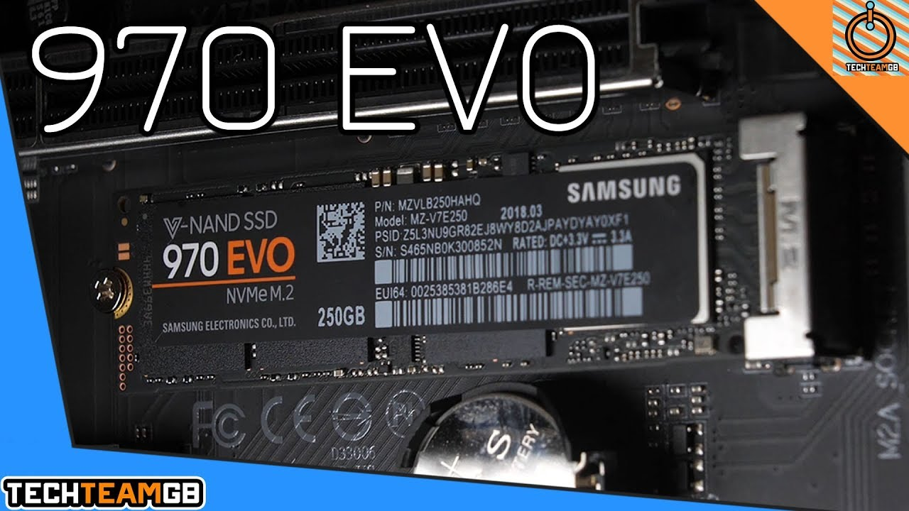 Samsung 970 Evo Nvme M 2 Ssd Review Youtube