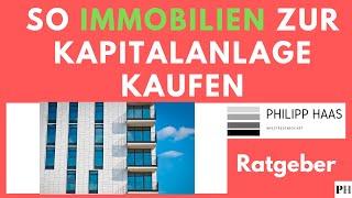 Immobilien kaufen zur Kapitalanlage und Immobilienbewertung