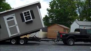 Portable 1.5 Story With Loft 12x20 New England Garage Prefab
