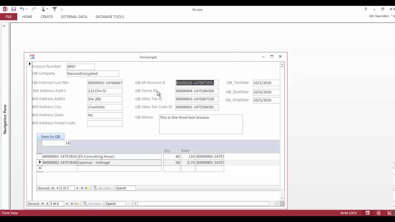 MS Access integration with QuickBooks