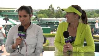 Martina Hingis and Sania Mirza visit the Live @ Wimbledon studio
