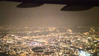 Night take off from Paris CDG, Boeing 777, Air France