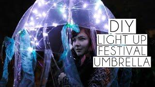 DIY Light Up Jellyfish Coachella Festival Umbrella | Paige Joanna