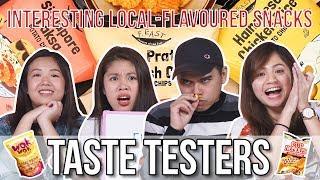Interesting Singapore Snacks Including Chicken Rice Popcorn   Taste Testers   EP 83